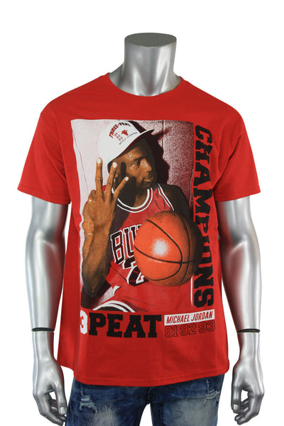 3 Peat Champions Tee Red (7500) - Zamage