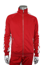 Jordan Craig Dual Stripe Track Jacket Red - Black (8333TA 22S) - Zamage