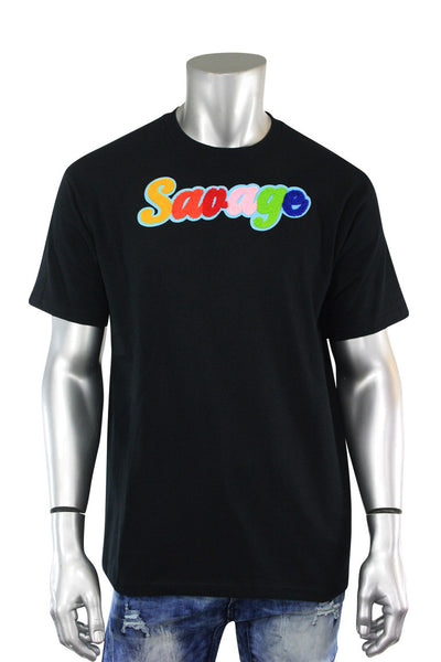 Savage Chenille Tee Black (P19-1001) - Zamage