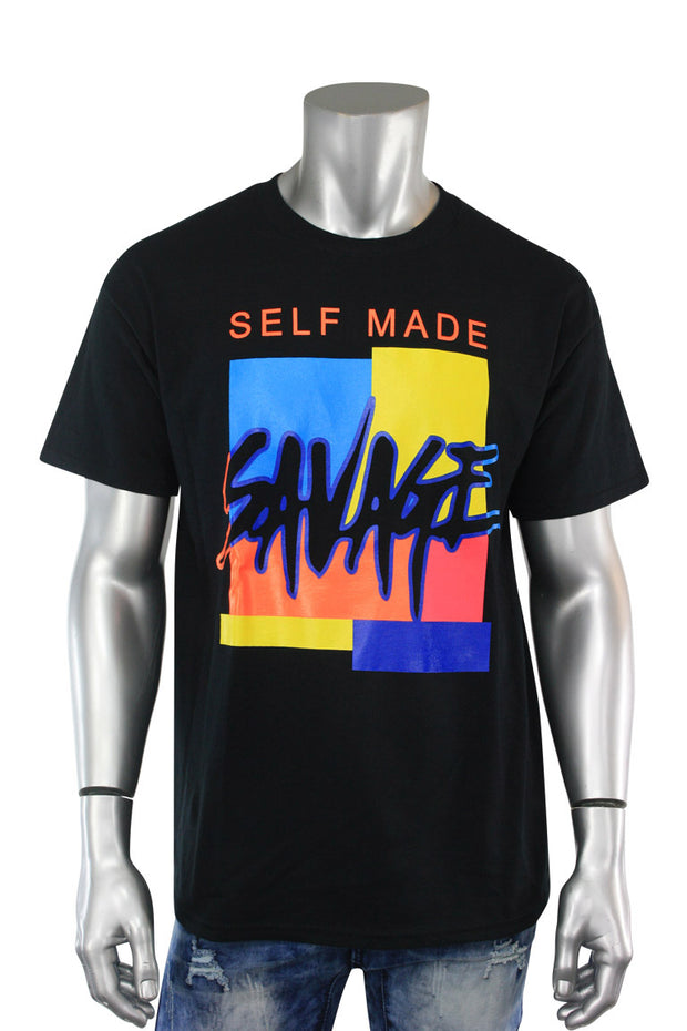 Self Made Savage Tee Black (9157) - Zamage