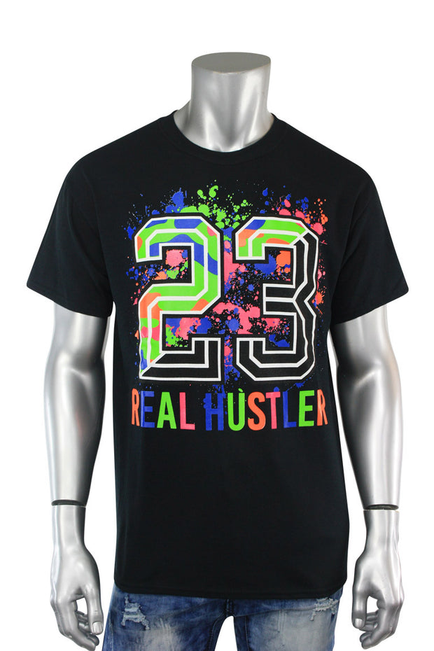 23 Real Hustler Tee Black (9062) - Zamage