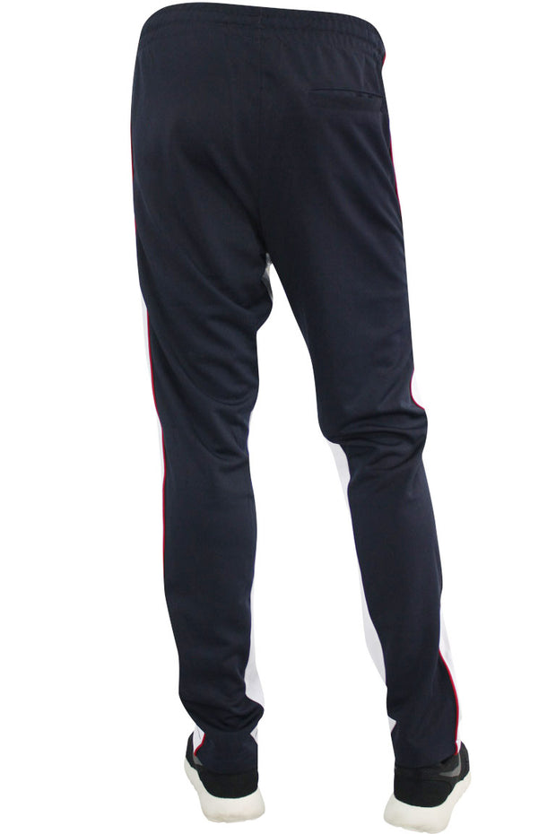 Color Block Dual Stripe Track Pants Navy - White (1240) - Zamage