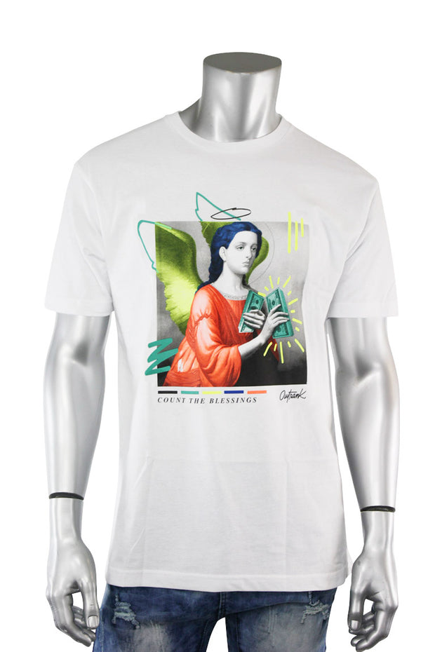 Count The Blessings Tee White (OR787 22S) - Zamage