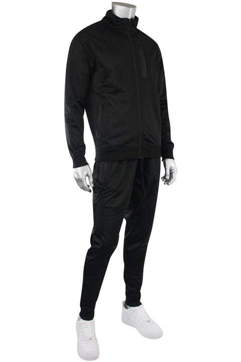 Tricot Zip Full Set Suit Black (GN912 22S)