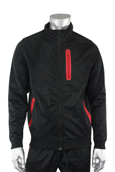 Tricot Full-Zip Jacket Black - Red (GN912TOP 22S)