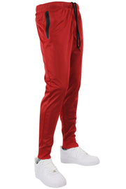 Tricot Solid Zip Pants Red - Black (GN912PAN 22S)