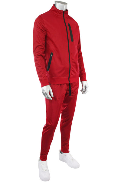 Tricot Zip Full Set Suit Red - Black (GN912 22S)