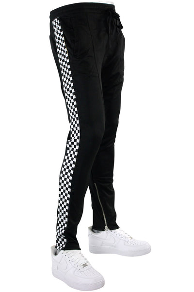 Racing Side Stripe Track Pants Black - White (M4418R1PS)
