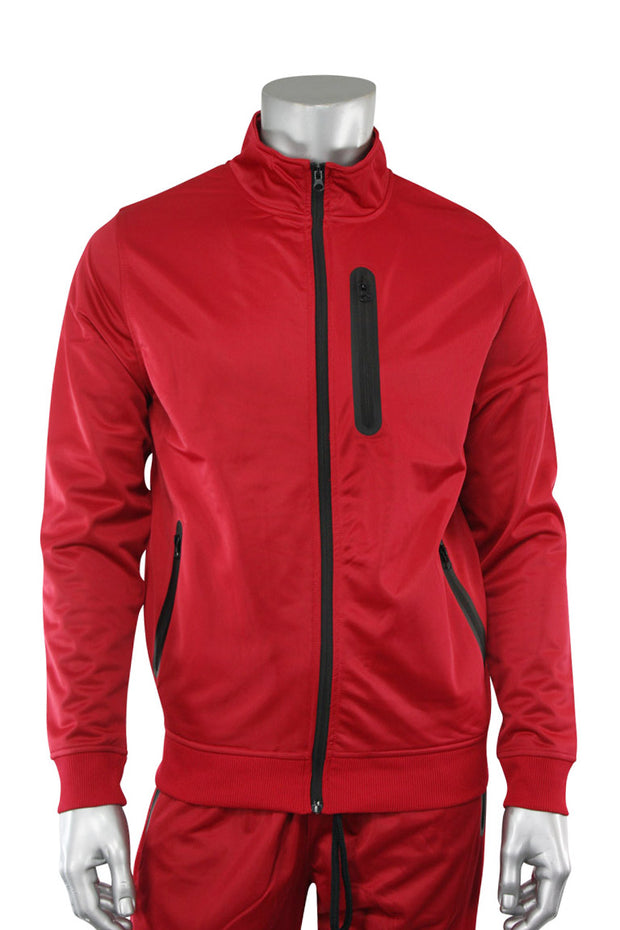 Tricot Full-Zip Jacket Red - Black (GN912TOP 22S)