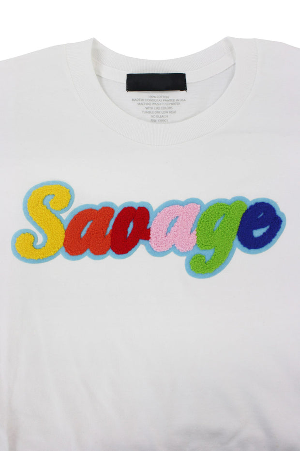 Savage Chenille Tee White (P19-1001)