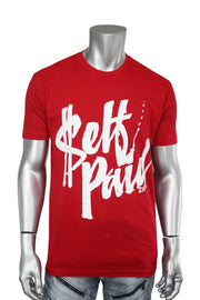 Self Paid Tee Red - White (SELFPAIDR)