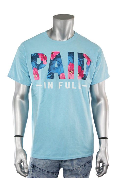 Paid In Full Tee Sky Blue (8309)