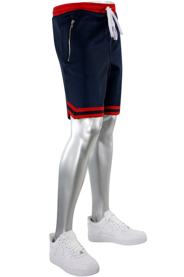 Zip Pocket Track Shorts Navy (1A1-910)