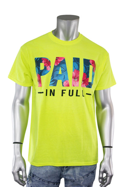 Paid In Full Tee Neon Green (8309)