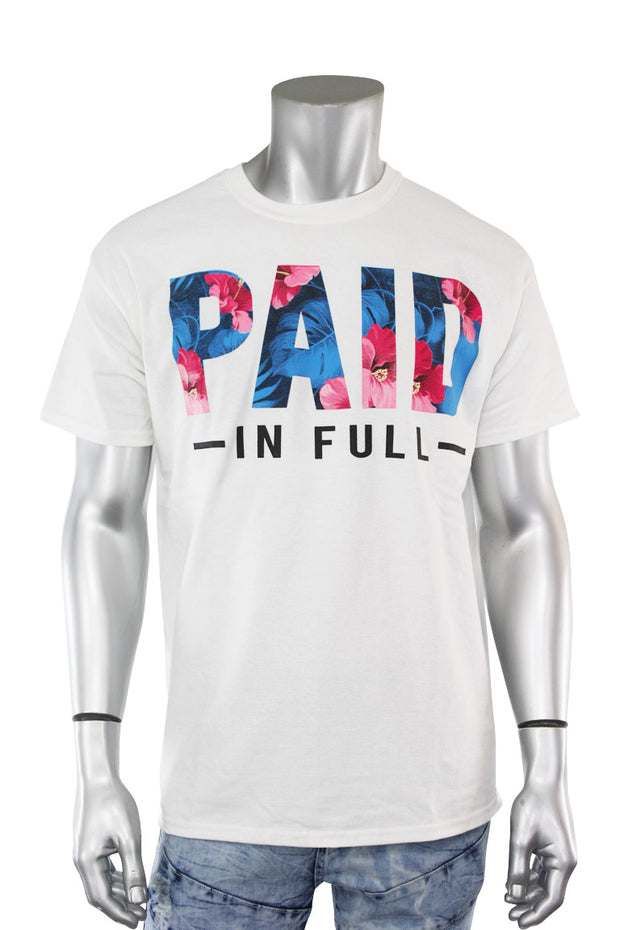 Paid In Full Tee White (8309) - Zamage
