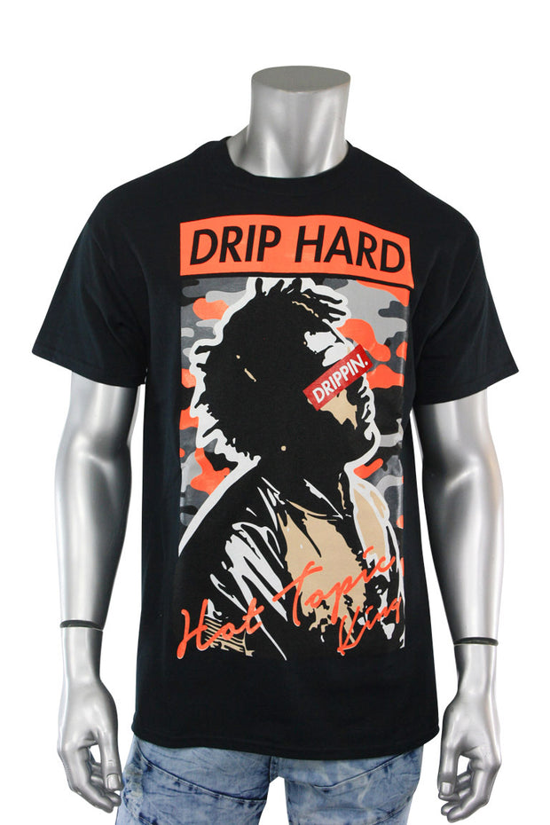 Drip Hard Tee Black (9073) - Zamage