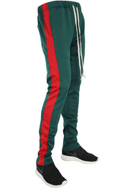 ZCL Premium Stripe Track Pants Green-Red (zcltrack)