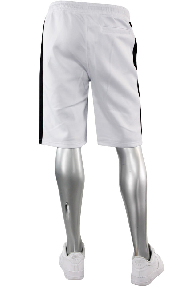 Side Stripe Track Shorts White - Black (1A1-900)