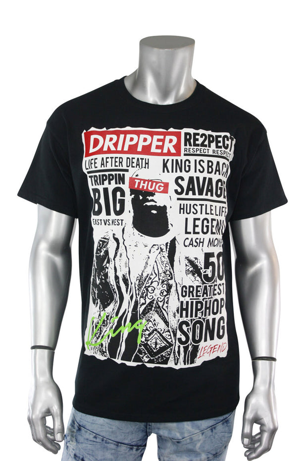Drip Legend Tee Black (9058) - Zamage