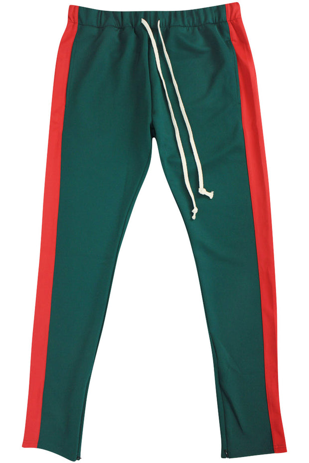 Zcl Premium Stripe Track Pants Green-Red Zcltrack  Zamage-3526