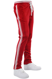 Premium Triple Stripe Track Pants Red - White (ZCM4841)