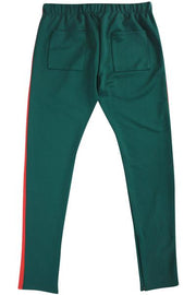 ZCL Premium Stripe Track Pants Green - Red (zcltrack 22S)