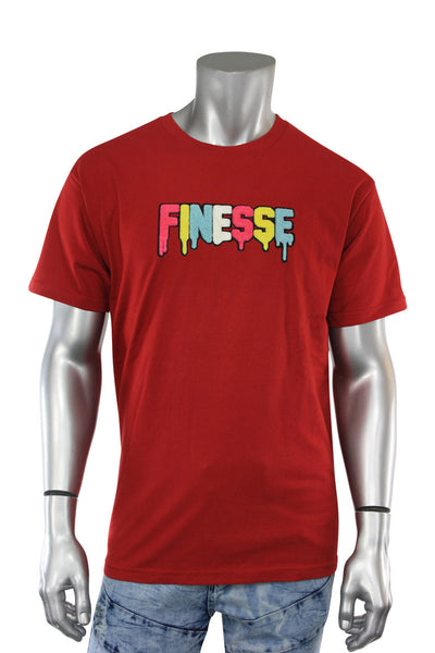 Finesse Chenille Tee Red (P19-8688)