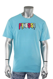 Finesse Chenille Tee Blue (P19-8688) - Zamage