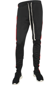 ZCL Premium Stripe Track Pants Black - Red (zcltrack)
