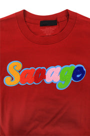 Savage Chenille Tee Red (P19-1001)