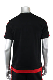 Layered Colorblock Tee Black - Red (1A1-110)