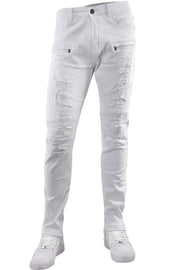 Moto Pieced Skinny Fit Denim White (BOM4658T)
