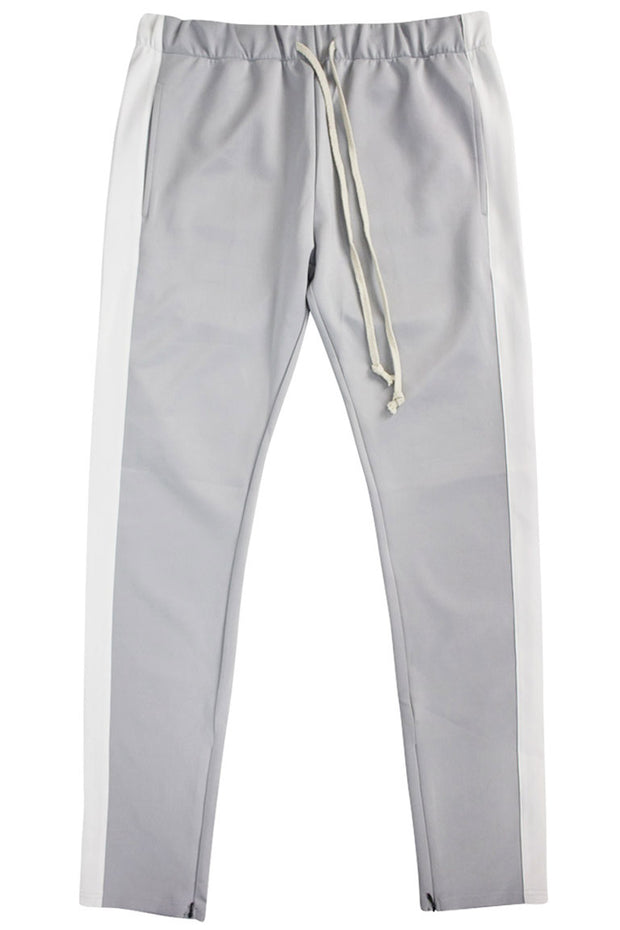 ZCL Premium Stripe Track Pants Grey - White (zcltrack)