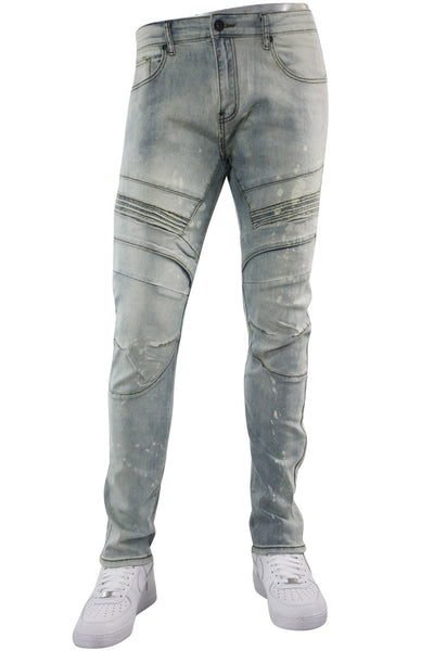 Moto Knee Skinny Fit Denim Antique Bleach (BOM4652D)
