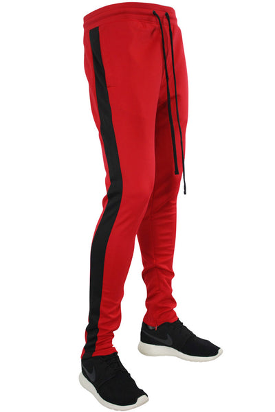 Side Stripe Track Pants Red - Black (1914)