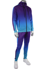 Dip Dye Full-Zip Hoodie Purple (192-571) - Zamage