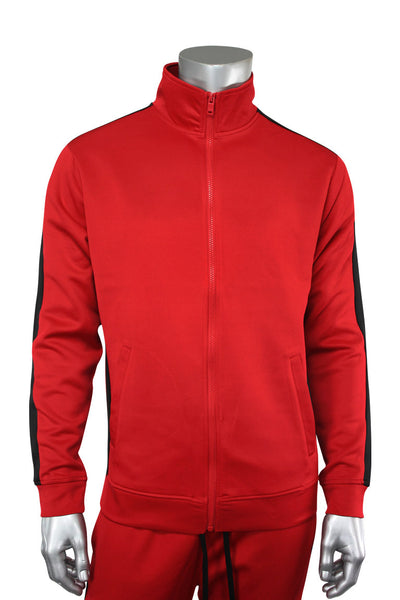 Side Stripe Track Jacket Red - Black (1915)