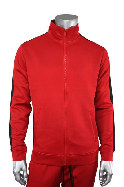 Side Stripe Track Jacket Red - Black (1915 22S)
