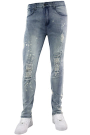 Destroyed Skinny Fit Denim Stone Wash (M4764D)