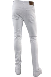 Ripped & Zipped Moto Skinny Fit Denim White (M4388TC)