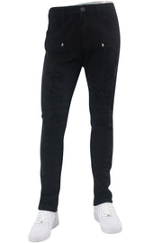 Destroyed Moto Skinny Fit Denim Black (M4658T)