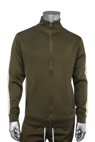 Side Stripe Track Jacket Olive (1915 22S)