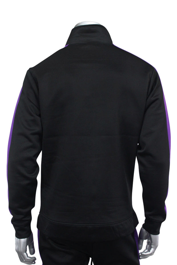 Side Stripe Track Jacket Black - Purple (1915)