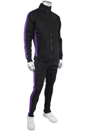 Side Stripe Track Jacket Black - Purple (1915 22S)