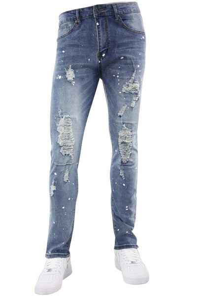 Destroyed Skinny Fit Denim Medium Vintage Wash (M4887D)