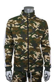 Side Stripe Camo Track Jacket Mud Camo (1915 22S)