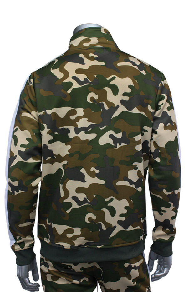 Side Stripe Camo Track Jacket Mud Camo (1915)