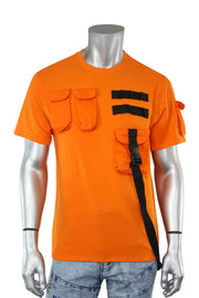 Multi Pocket Utility Tee Orange (192-123)