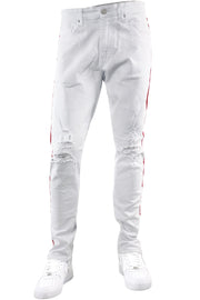 Jordan Craig Destroyed Stripe Slim Fit Denim White (JM3400A 22S)