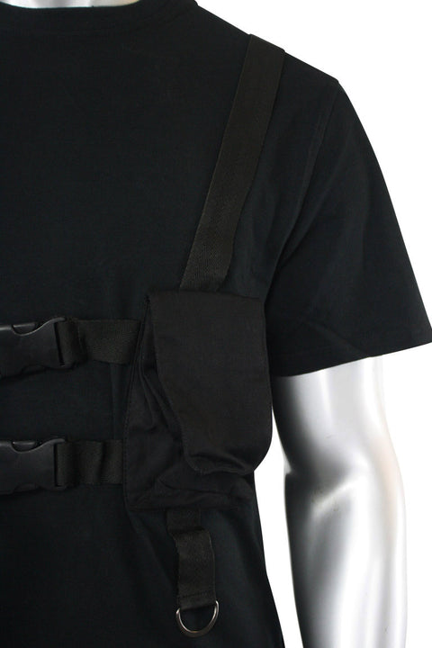 Multi Pocket Utility Tee Black (192-122)